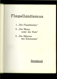 Flagellantismus. Privatdruck /erotika/